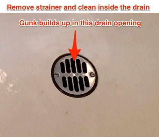sink drain build up